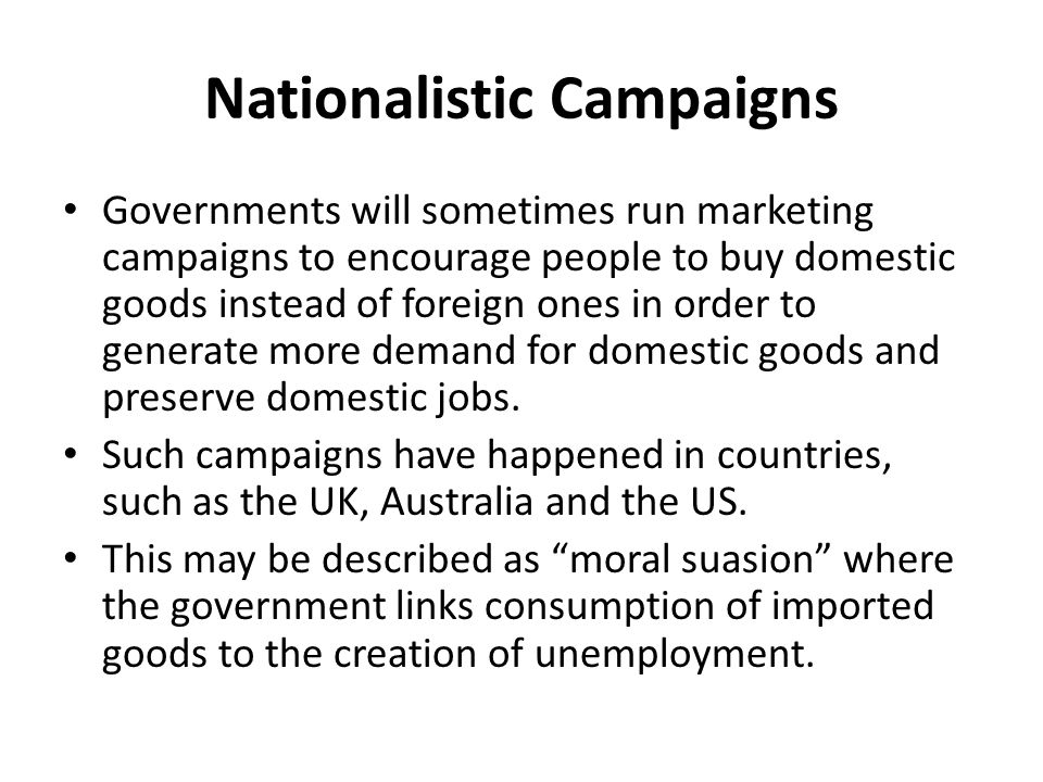 Nationalistic Campaigns