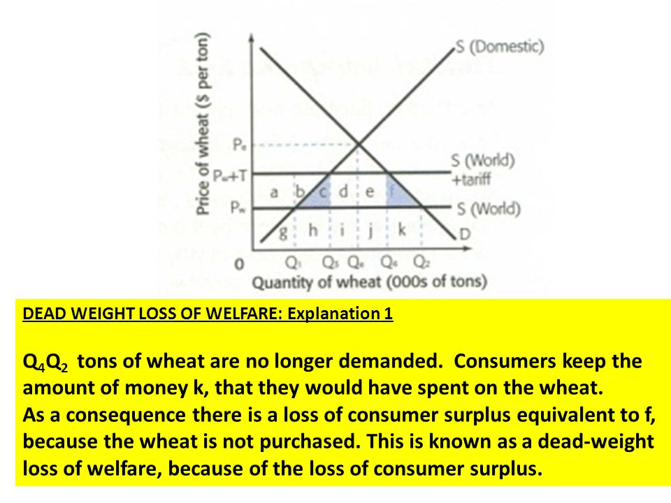 DEAD WEIGHT LOSS OF WELFARE: Explanation 1