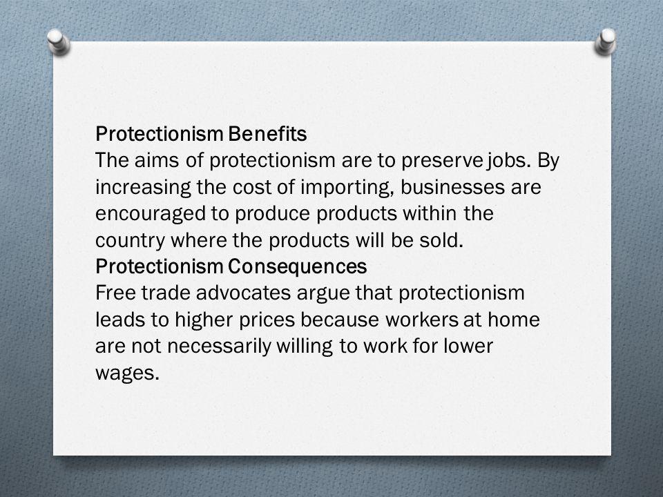 Protectionism Benefits