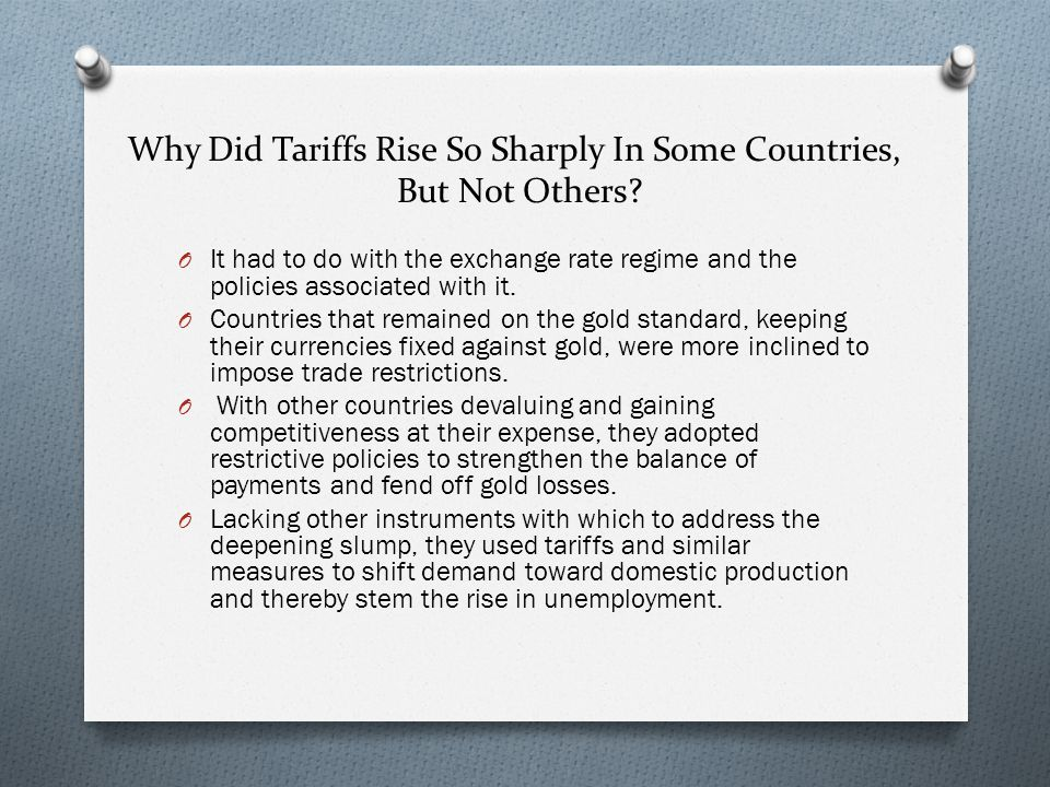 Why Did Tariffs Rise So Sharply In Some Countries,