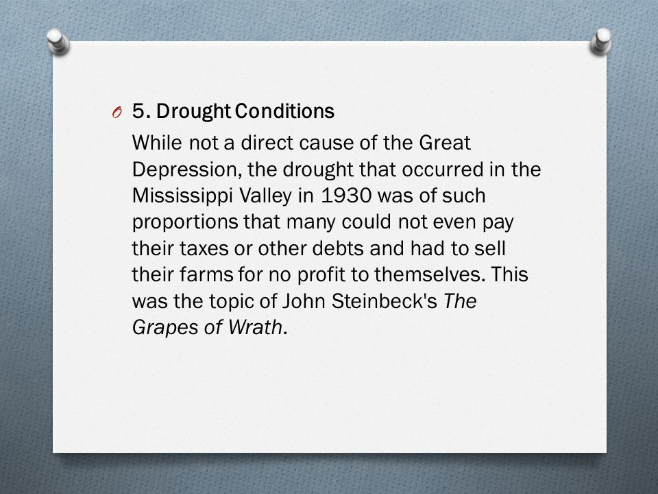 5. Drought Conditions