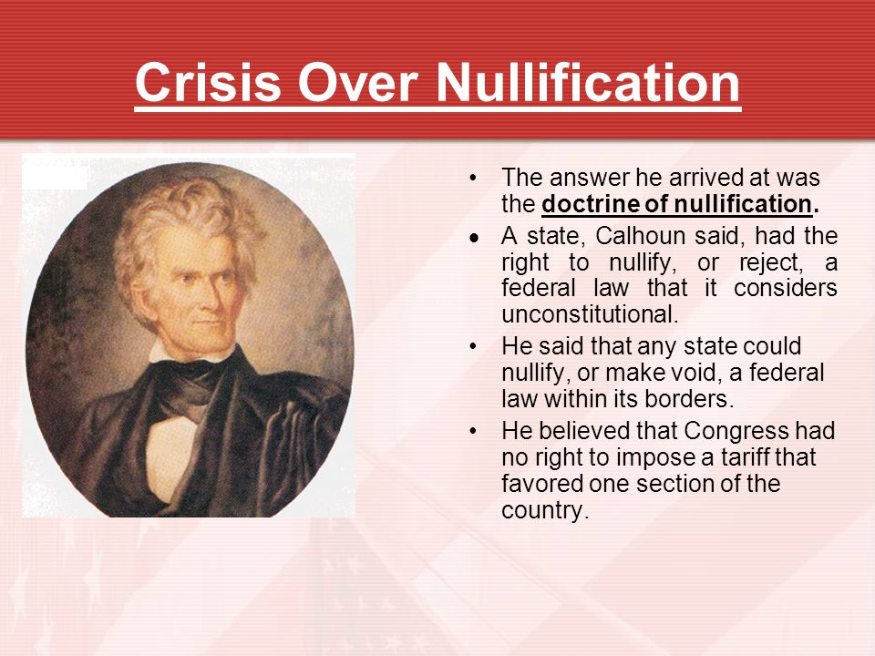 Crisis Over Nullification
