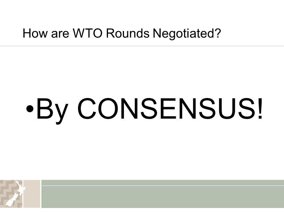 How are WTO Rounds Negotiated