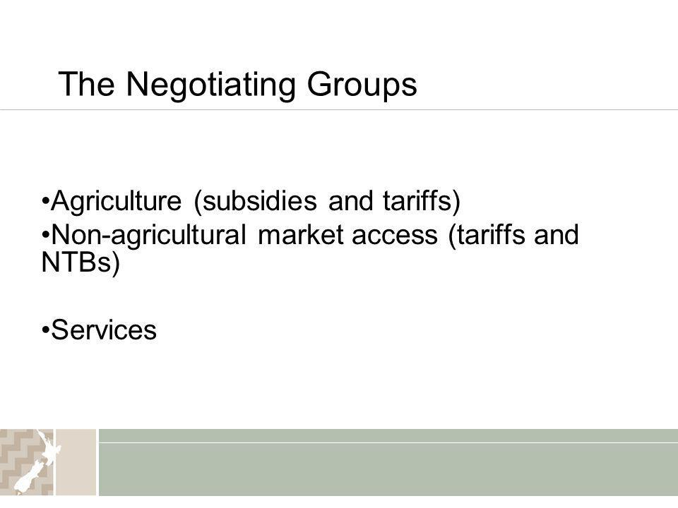 The Negotiating Groups