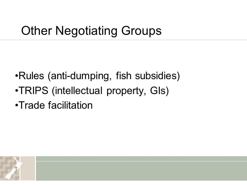 Other Negotiating Groups