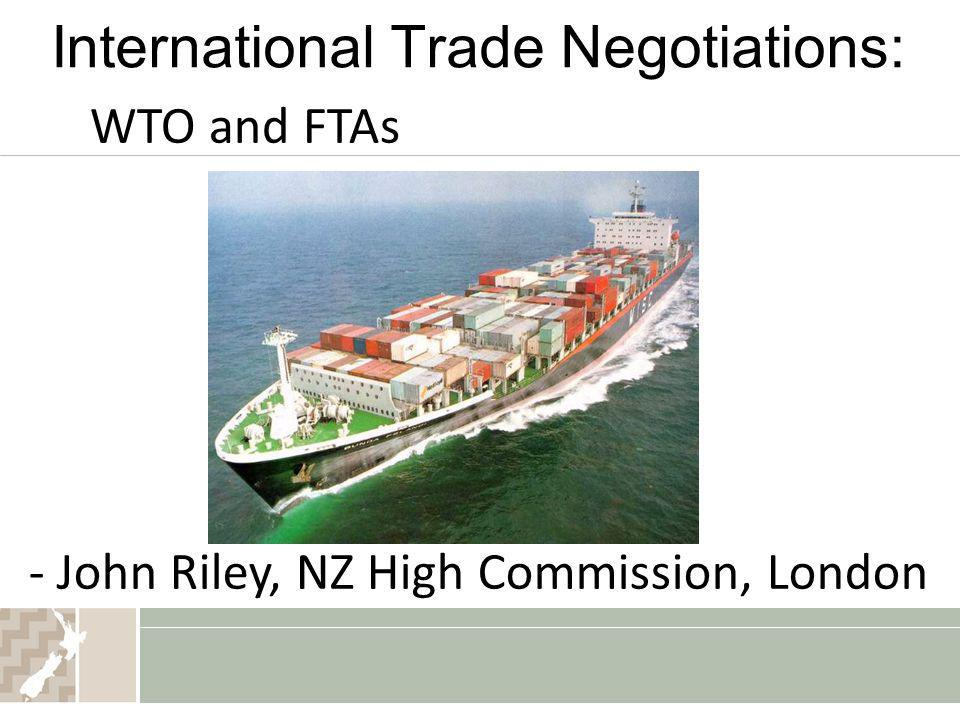 International Trade Negotiations: