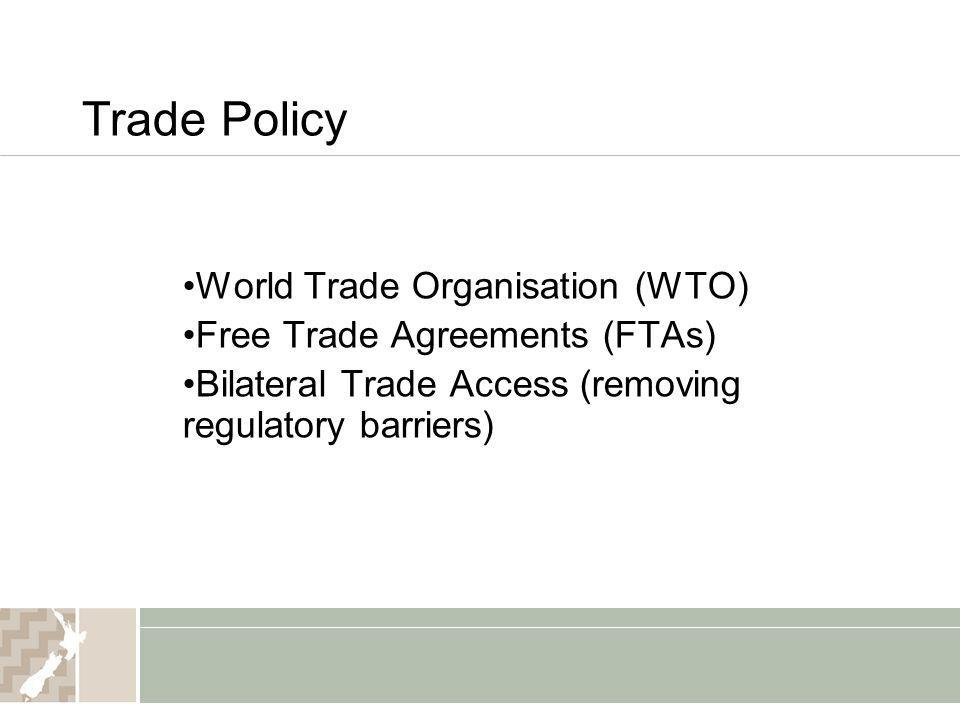 Trade Policy World Trade Organisation (WTO)