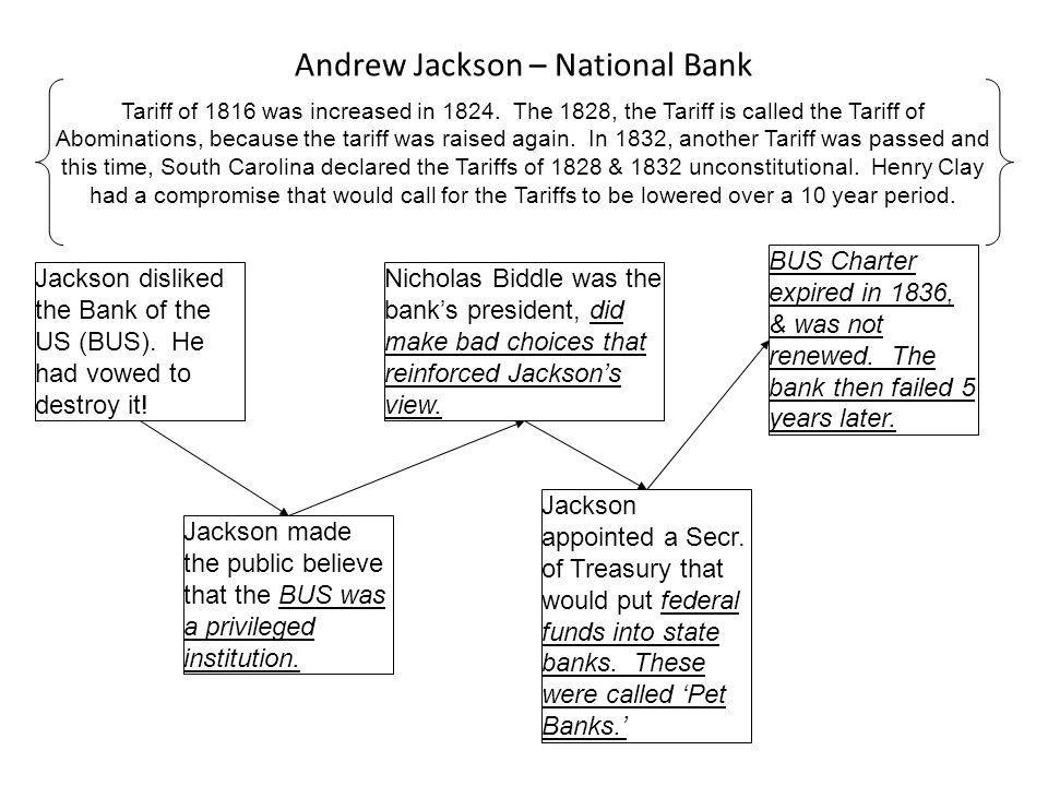 Andrew Jackson – National Bank