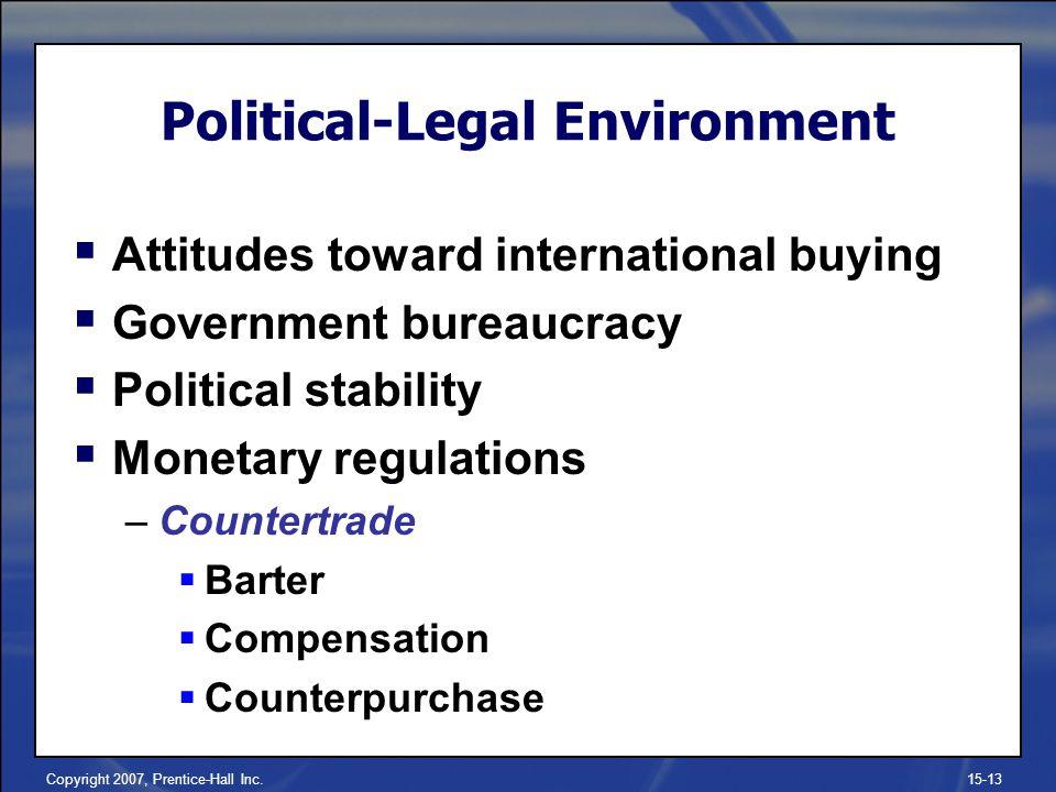Political-Legal Environment