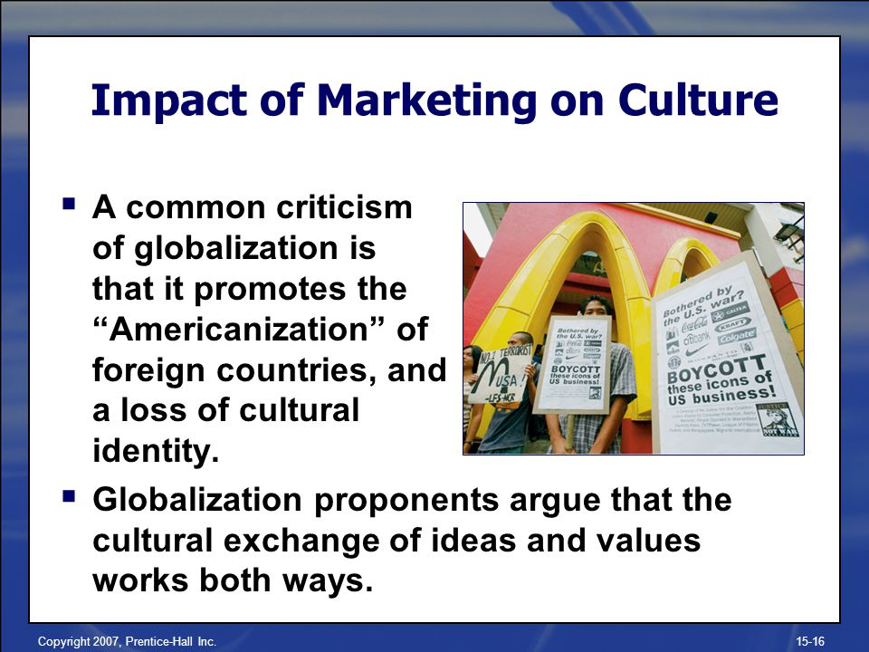 Impact of Marketing on Culture