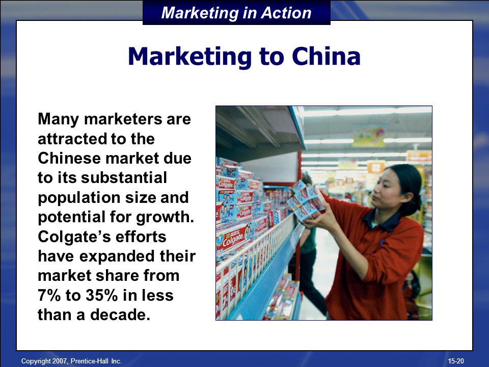 Marketing to China Marketing in Action
