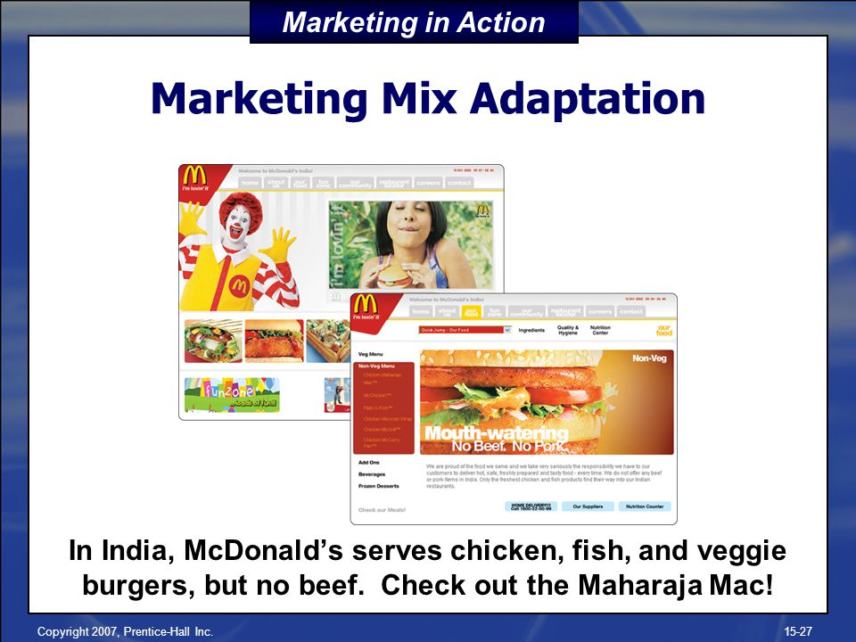 Marketing Mix Adaptation