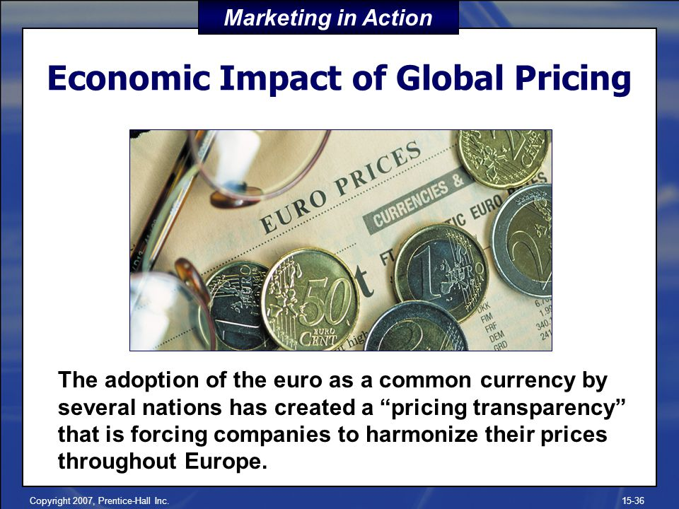 Economic Impact of Global Pricing