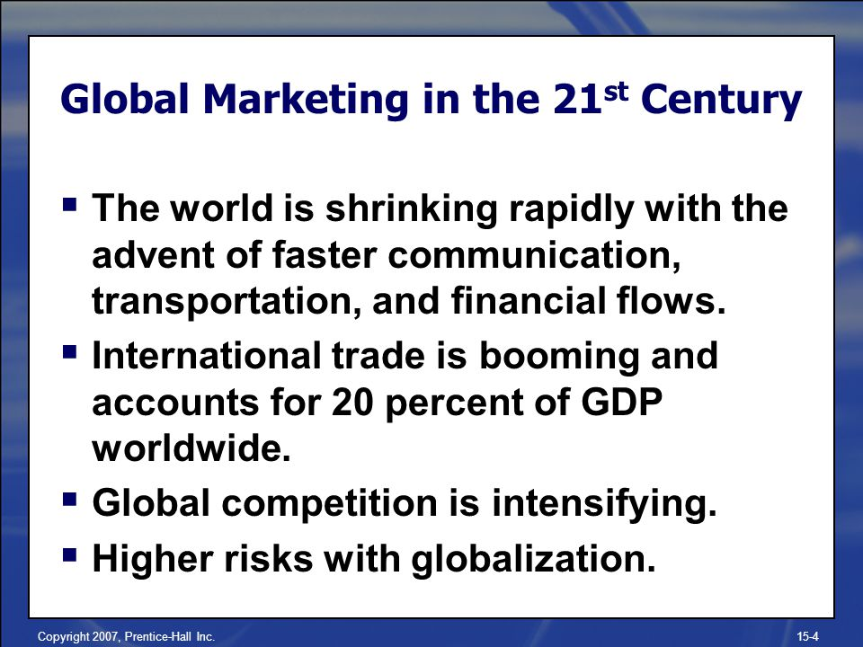 Global Marketing in the 21st Century