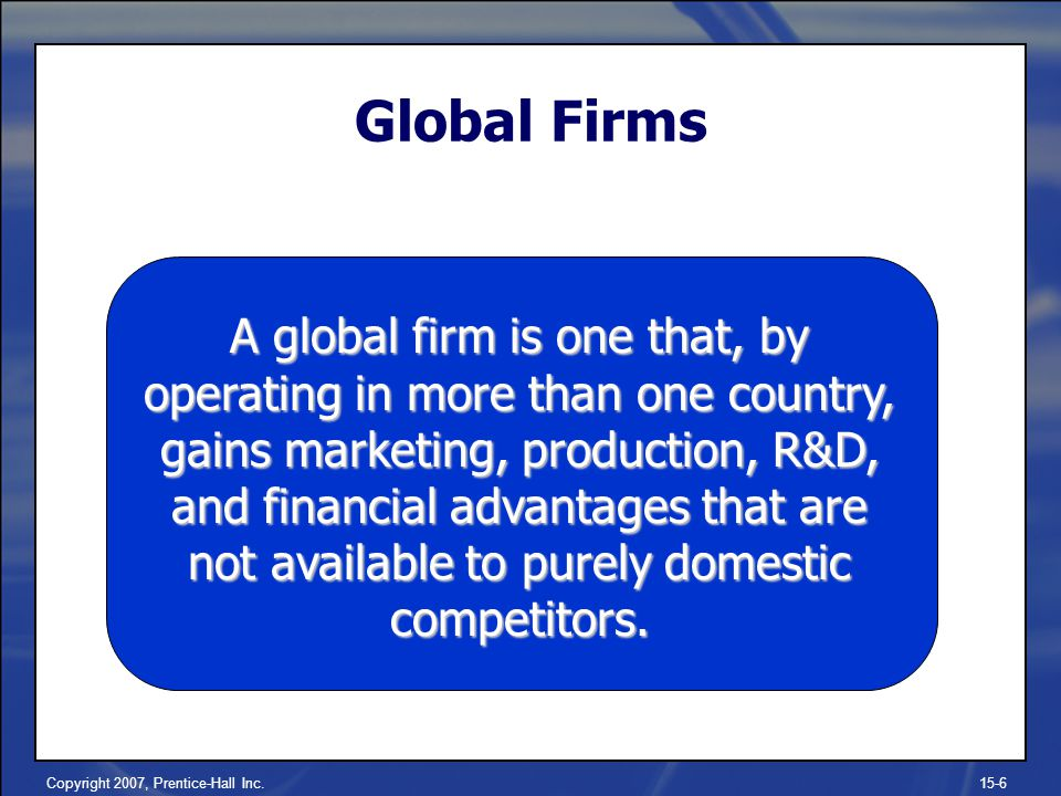 Global Firms