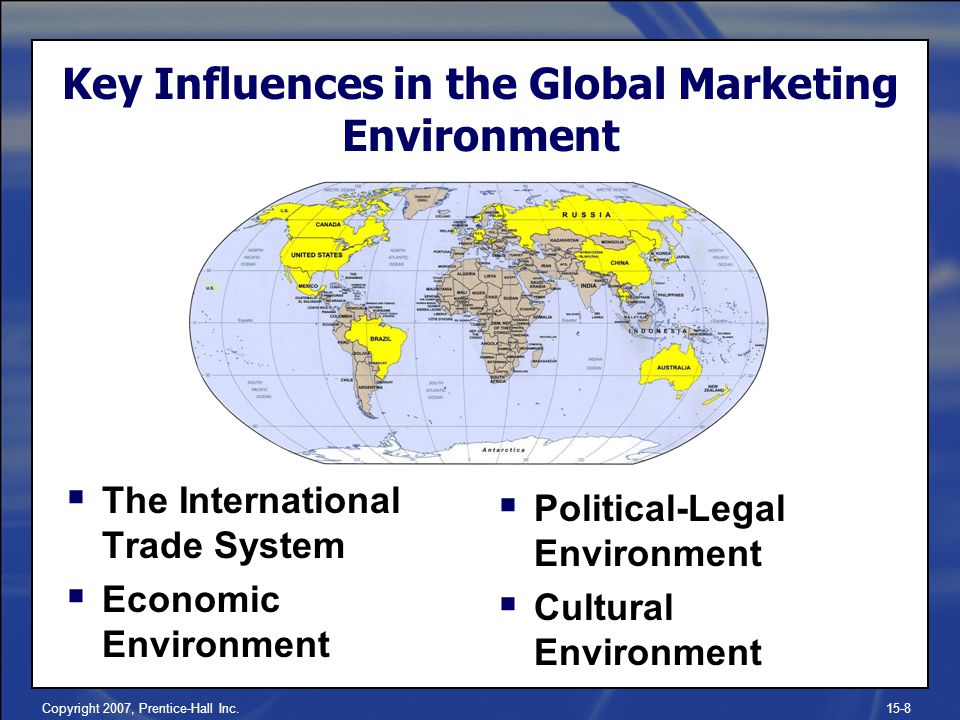Key Influences in the Global Marketing Environment