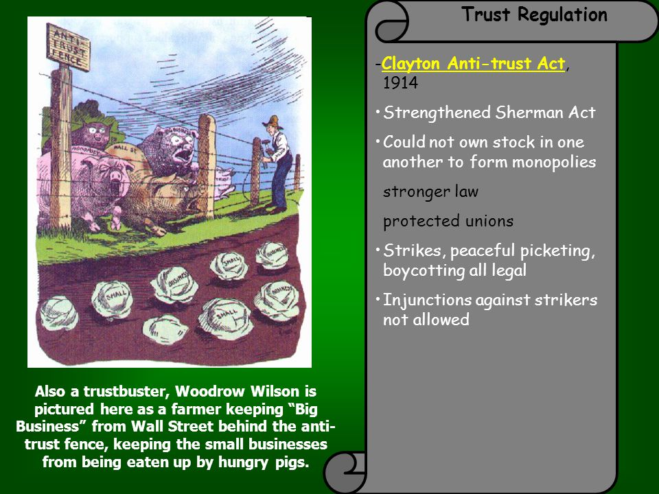 Trust Regulation -Clayton Anti-trust Act, 1914