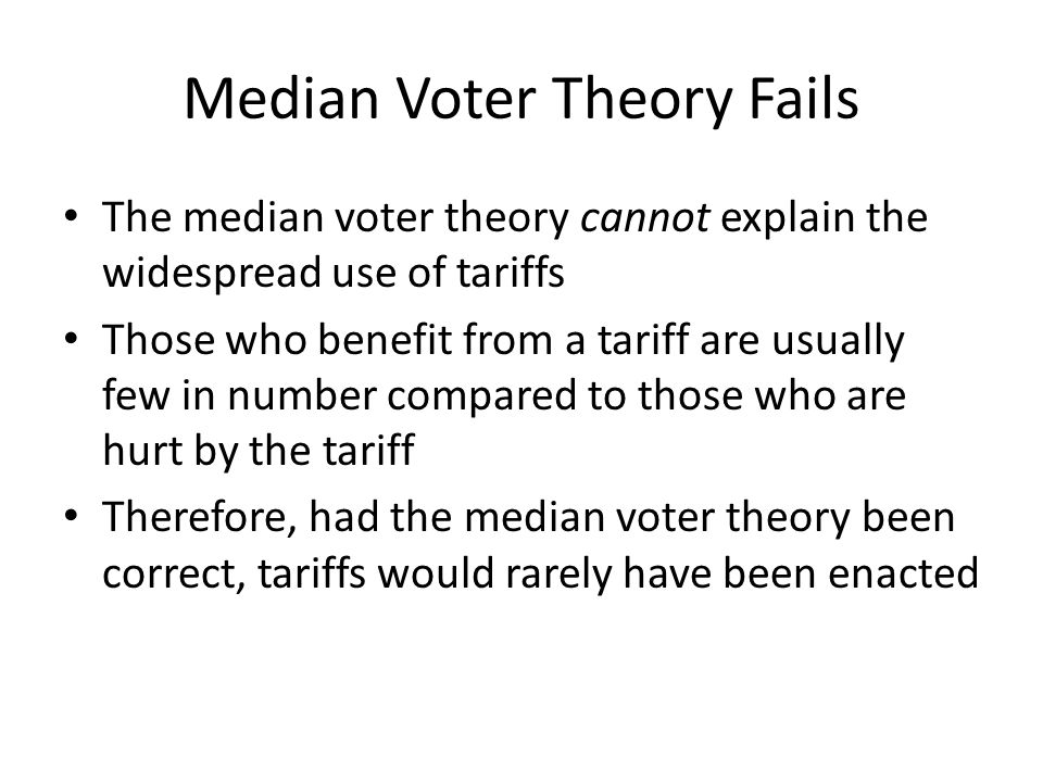 Median Voter Theory Fails