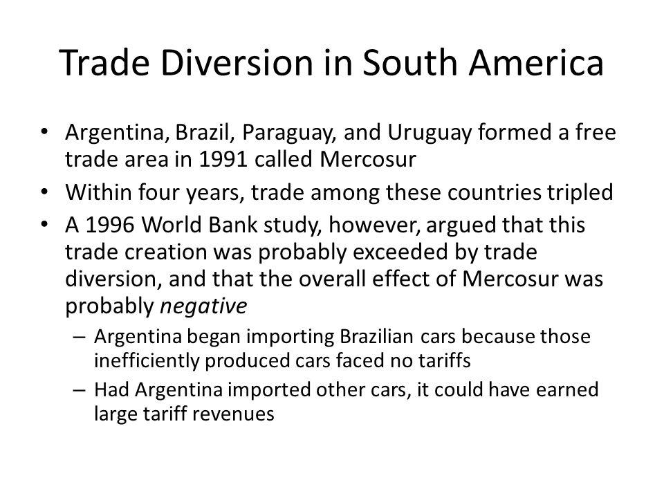 Trade Diversion in South America