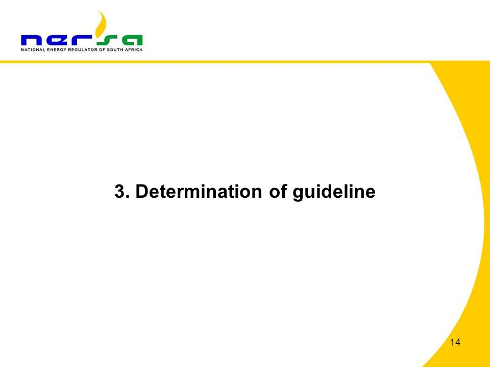 3. Determination of guideline