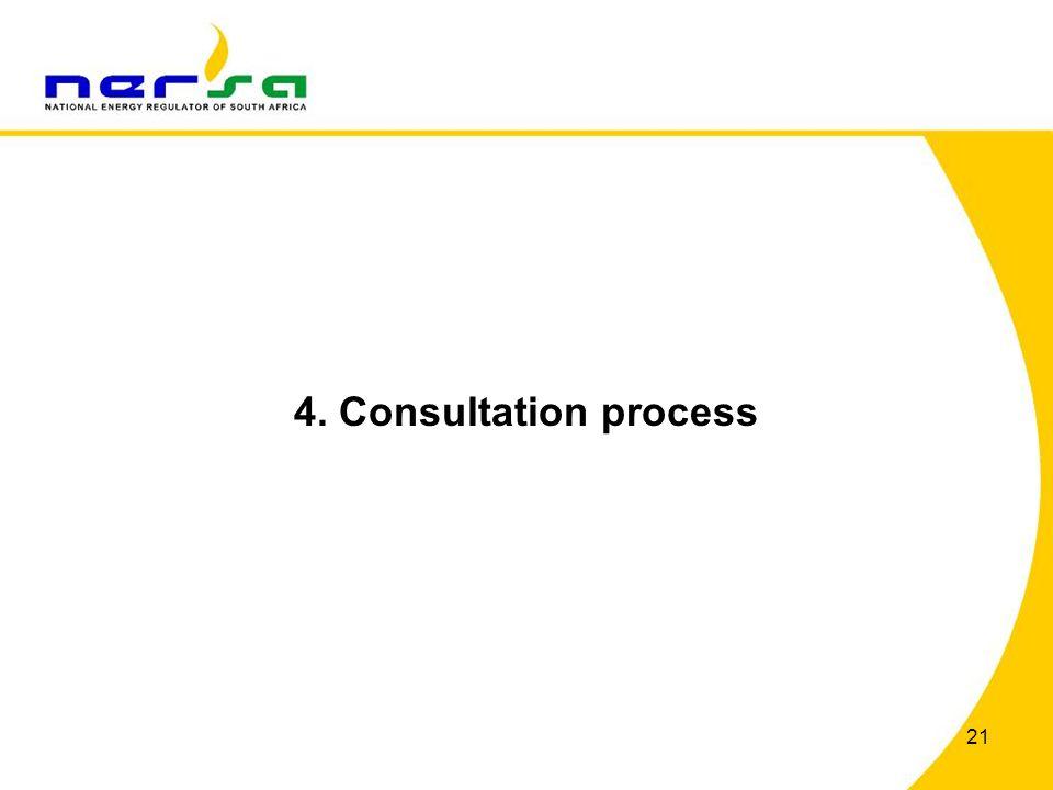 4. Consultation process