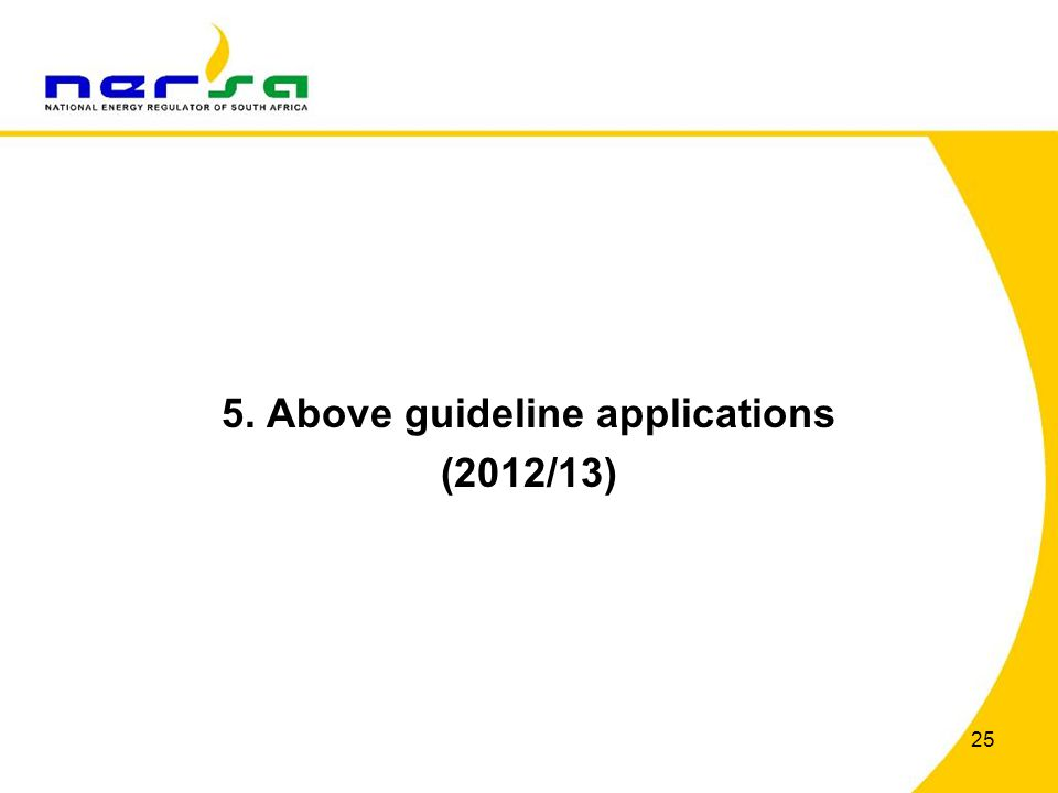 5. Above guideline applications (2012/13)