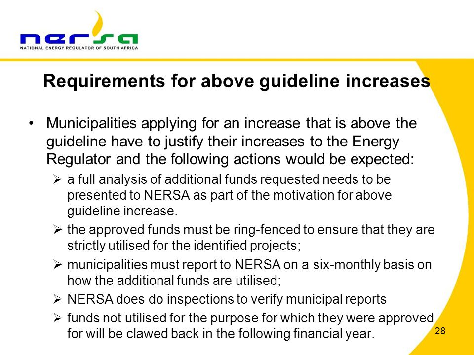 Requirements for above guideline increases