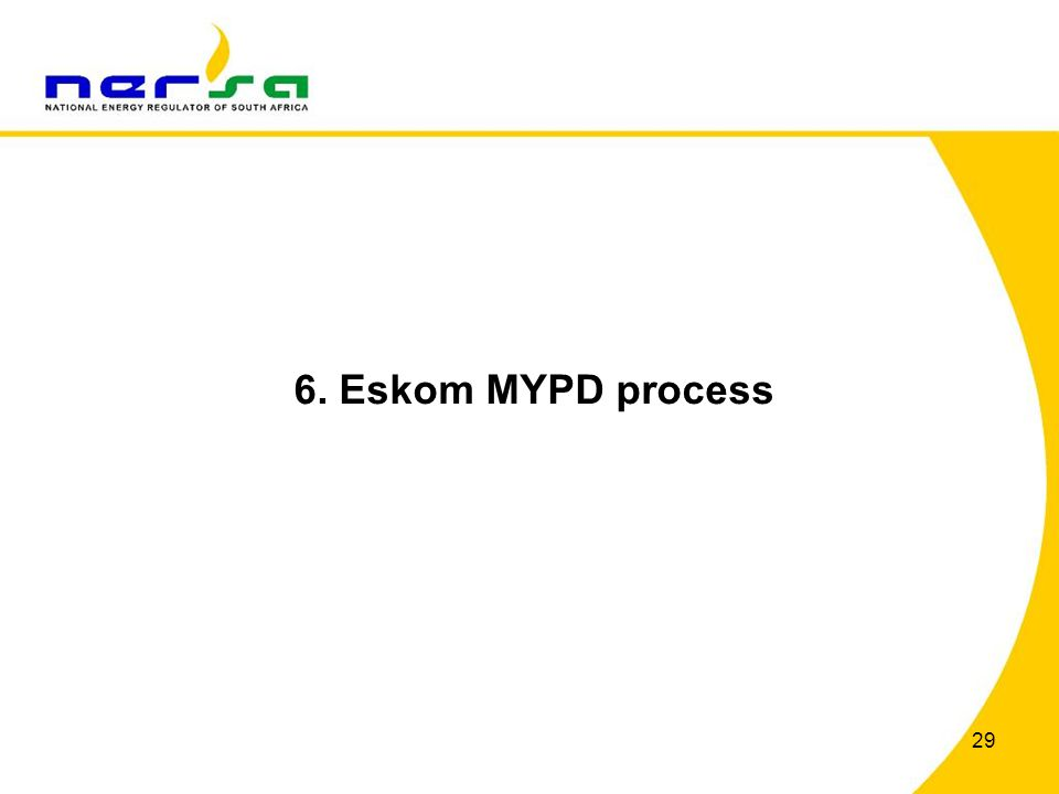 6. Eskom MYPD process