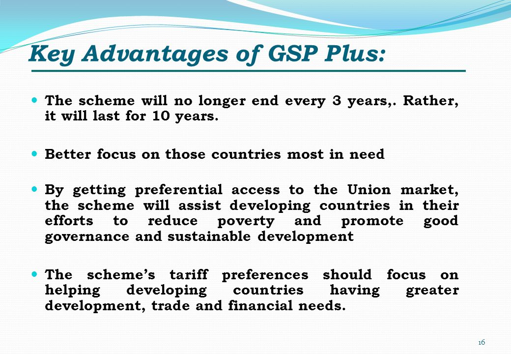 Key Advantages of GSP Plus: