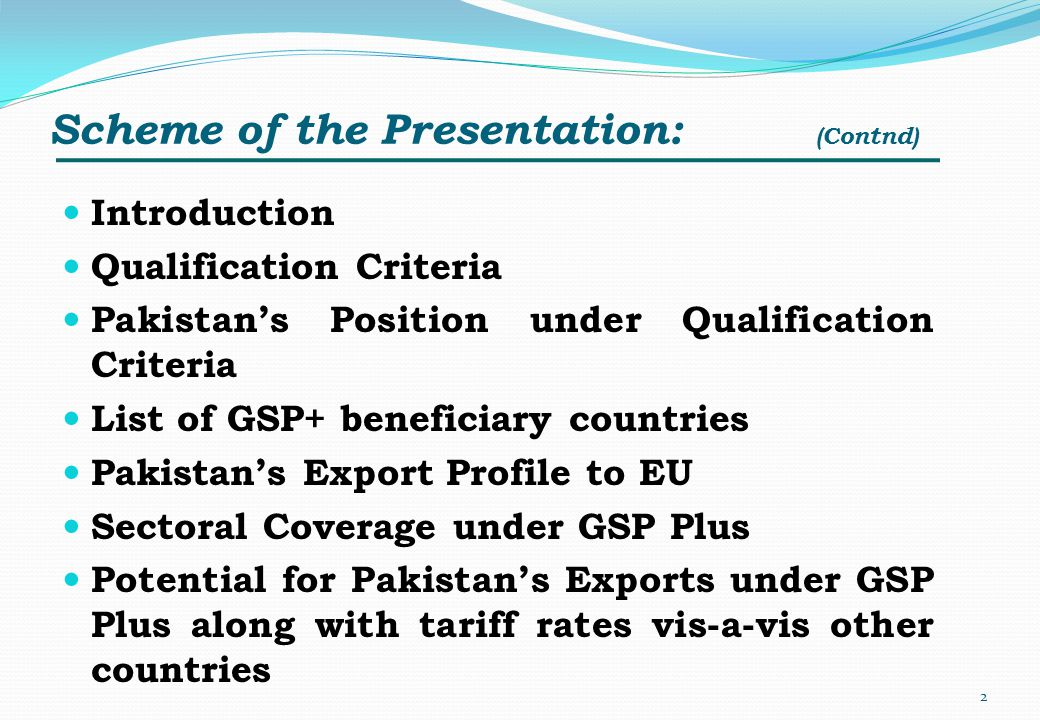 Scheme of the Presentation: (Contnd)