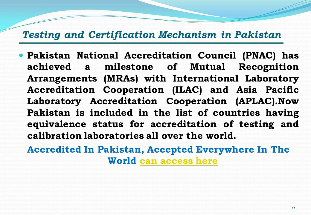 Testing and Certification Mechanism in Pakistan
