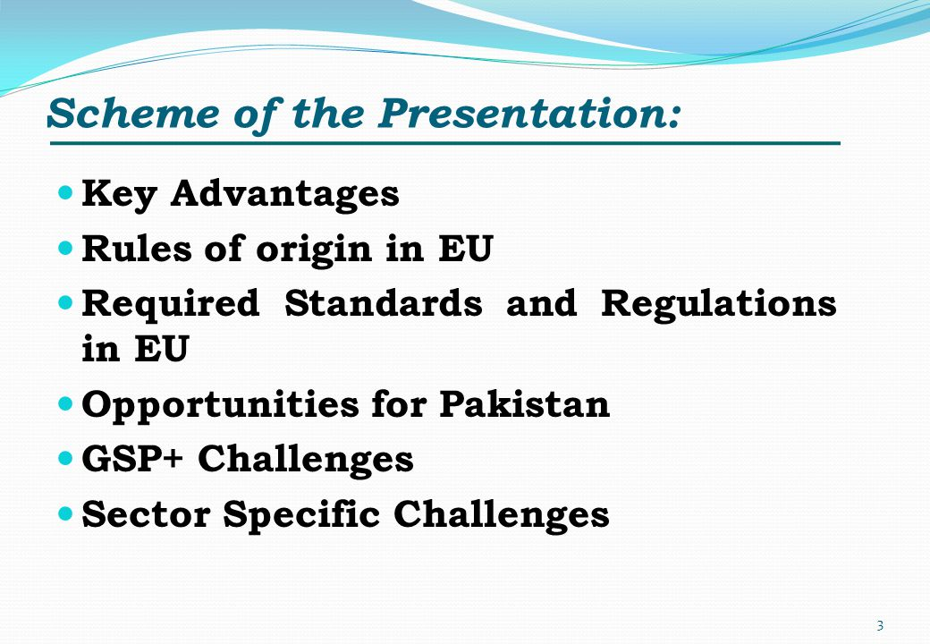 Scheme of the Presentation: