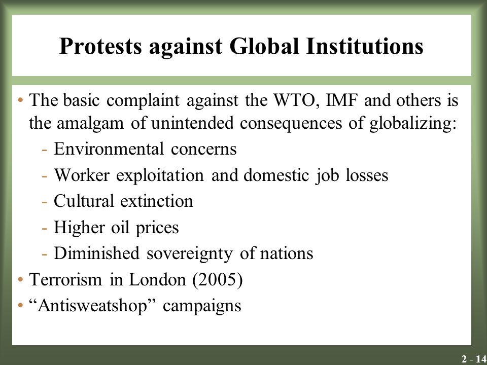 Protests against Global Institutions