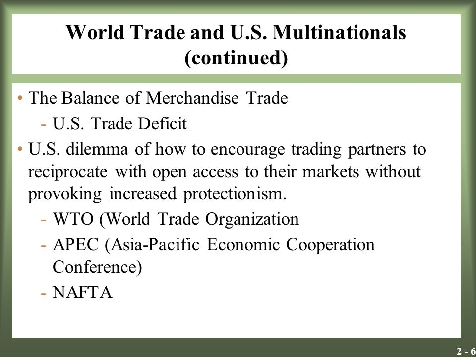 World Trade and U.S. Multinationals (continued)