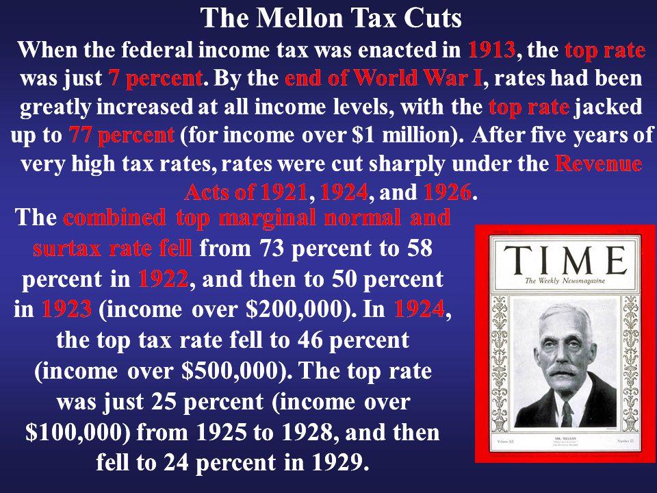 The Mellon Tax Cuts The Mellon Tax Cuts