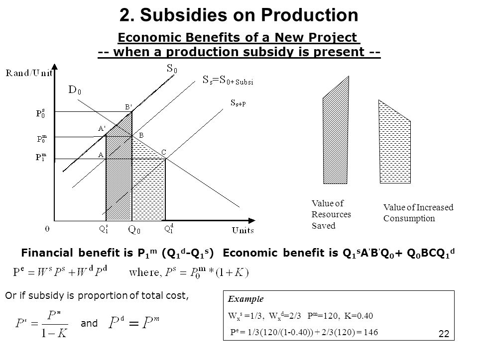 2. Subsidies on Production
