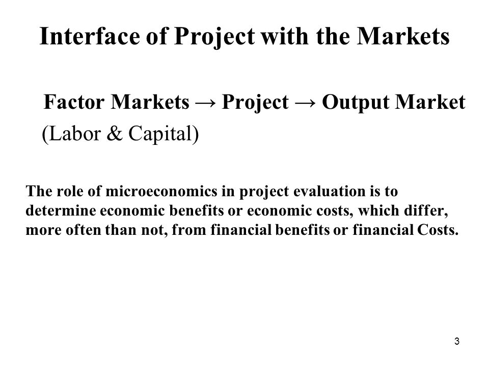 Interface of Project with the Markets