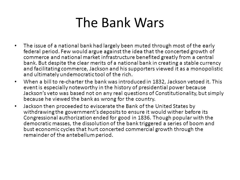 The Bank Wars