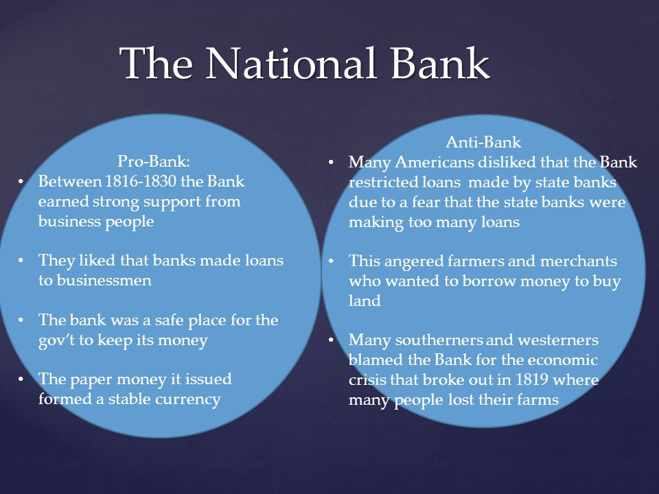 The National Bank Anti-Bank