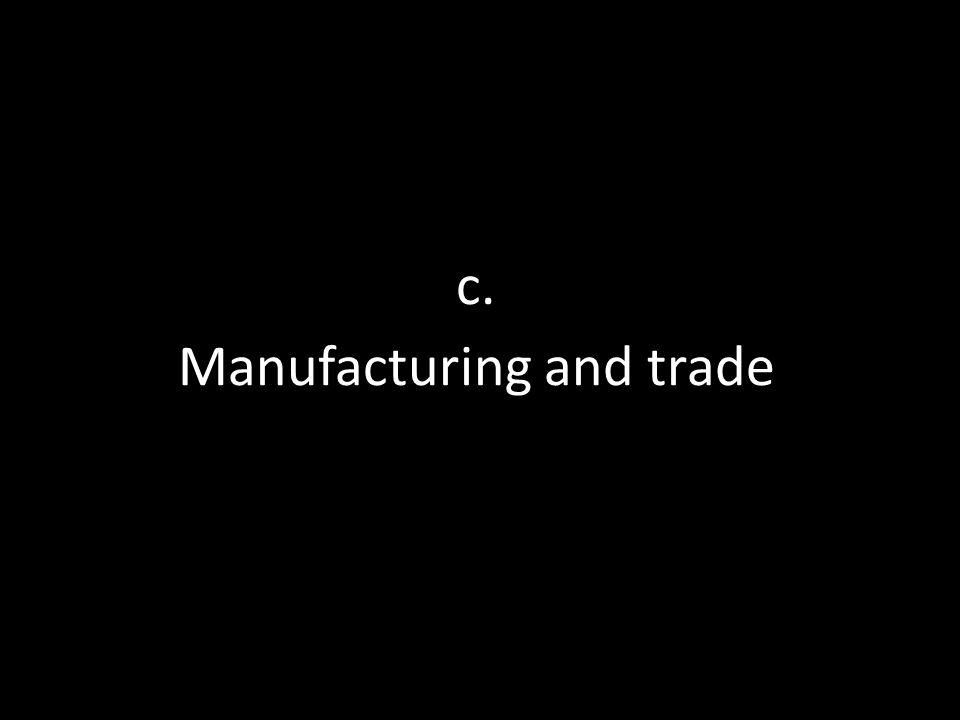 c. Manufacturing and trade