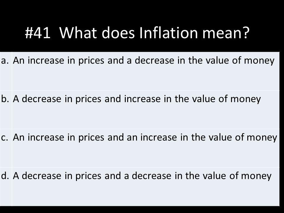 #41 What does Inflation mean