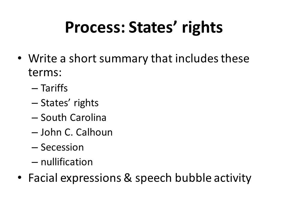 Process: States' rights