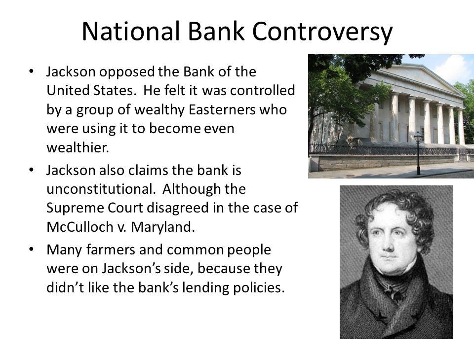 National Bank Controversy