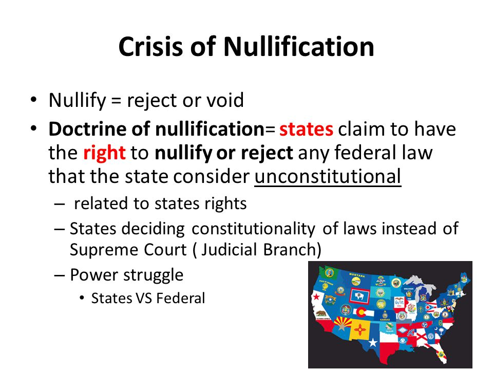 Crisis of Nullification