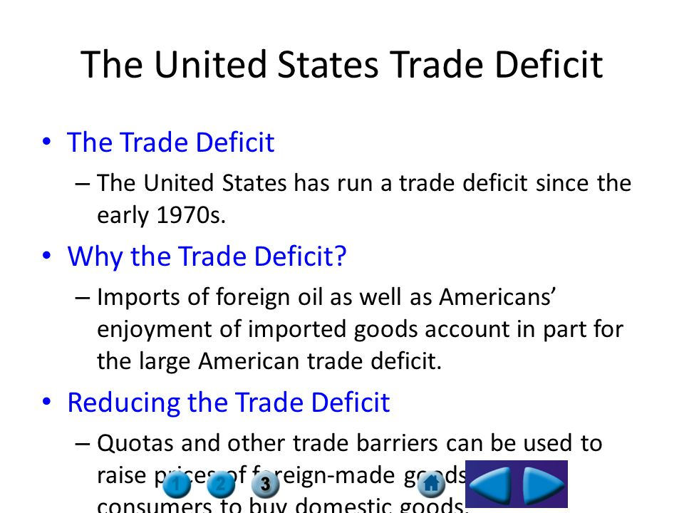 The United States Trade Deficit