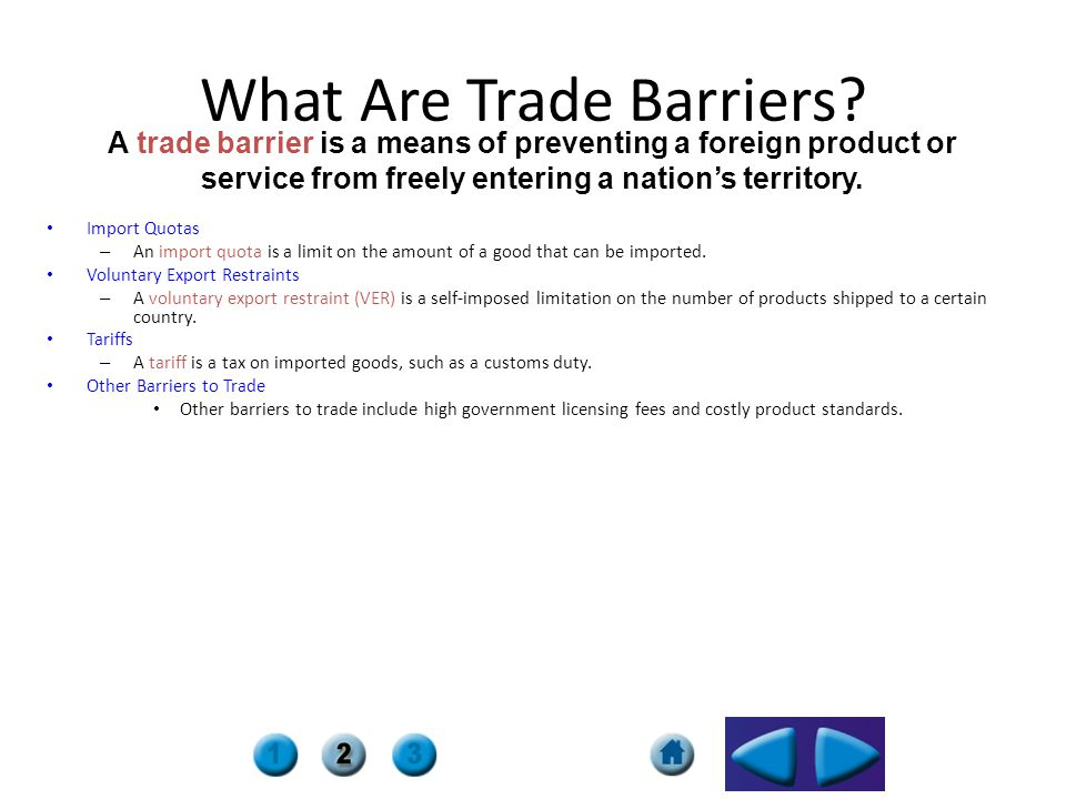 What Are Trade Barriers