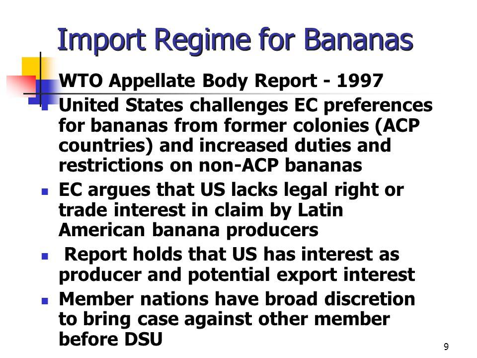 Import Regime for Bananas