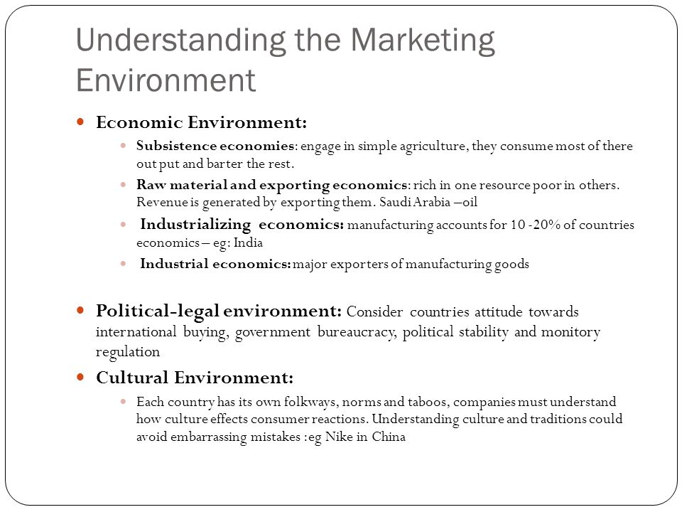 Understanding the Marketing Environment