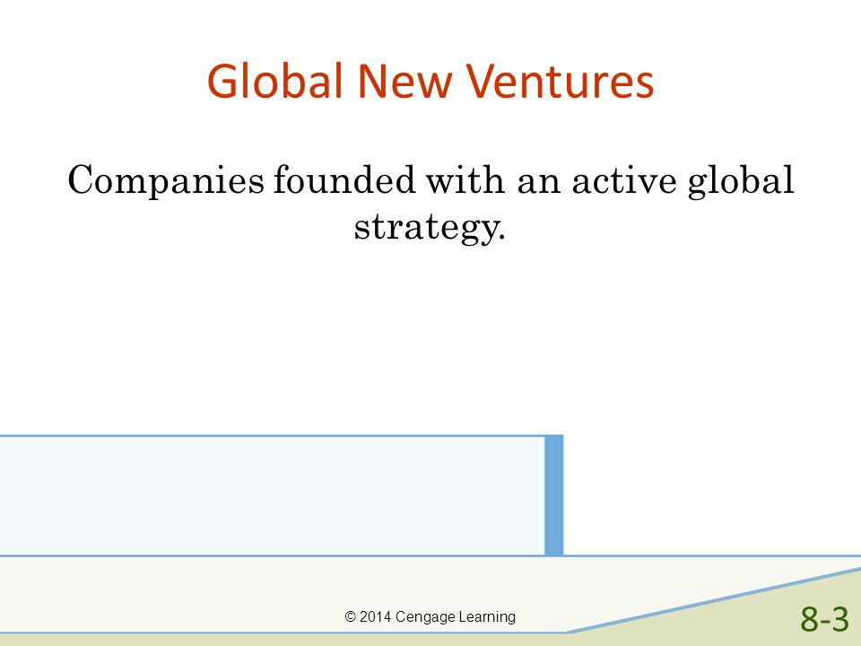 Companies founded with an active global strategy.