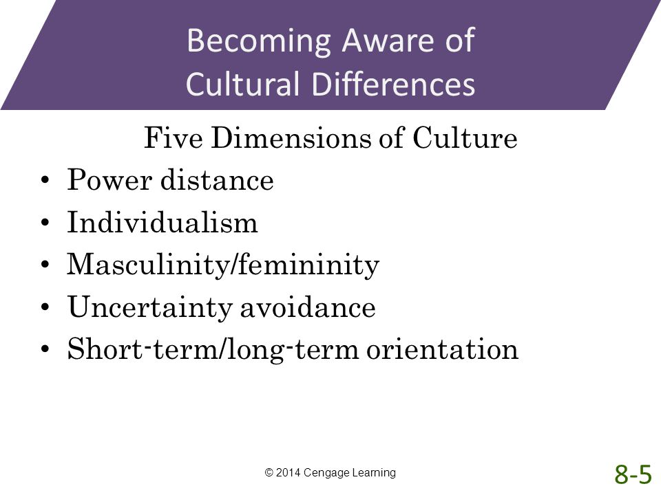 Becoming Aware of Cultural Differences